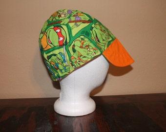 Reversible Orange Ninja Turtle Reversive Bill Welding Cap