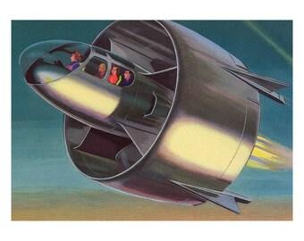 Poster - Snecma C - 450 beetle - 1959 - fine art gallery