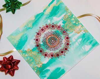 Handmade Greeting Card I - Christmas, New Year, Congratulations, Birthday