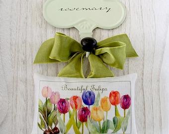 Linen Sachet-Beautiful Tulips