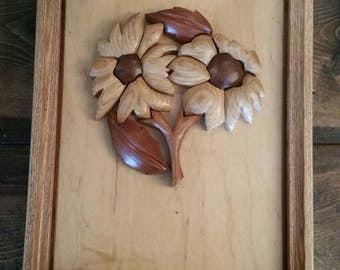 Wooden Carved Flower