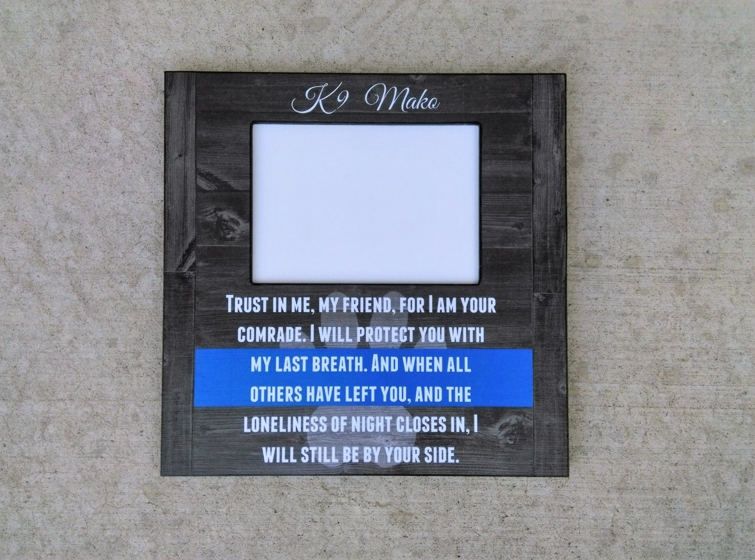 K9 picture frame police k9 memorial swat dog picture frame zoom jeuxipadfo Choice Image