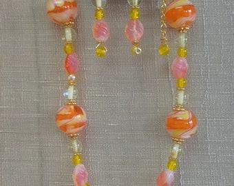 Citrus Necklace and Earring Set OOAK ORIGINAL