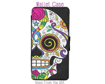 Sugar skull iPhone 7 Case - sugar skull iPhone 7 Wallet Case - sugar skull iphone 7 - sugar skull iPhone 7 Wallet