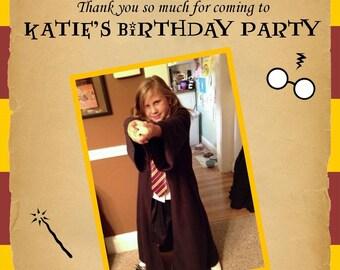 Harry Potter Birthday Thank You