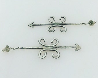 The Arrow Wrought Iron Earrings (small)
