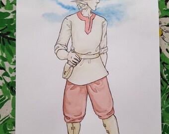 Jayoda - Character Design - Original Art Watercolor Sketch of Comic Illustration