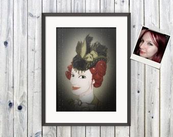 Caricature, Customised Portrait, Christmas Gift, Digital Portrait, Personalised, Caricature Print, Funny Portrait, Selfie, Charicature,