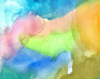 Art Print, Abstract Watercolor, Wonder