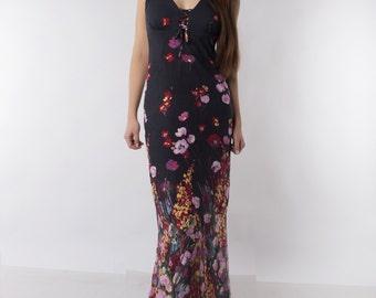 Floral dress - Summer maxi dress.