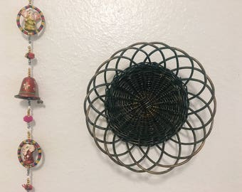 Vintage Wall Basket, Boho Decor