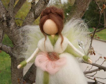 Wool Fairy, needle felted fairy, Waldorf fairy, Waldorf felted doll, Waldorf Inspired Wool Fairy, Waldorf Nursery Decor