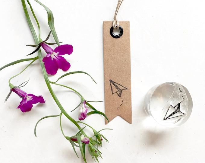 Origami Aeroplane Clear Rubber Stamp - Origami Aeroplane - Aeroplane Clear Rubber Stamp - Aeroplane Stamp - Origami Stamp - Stamp Store