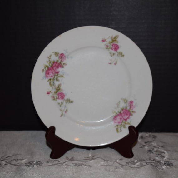 KPM Germany Lunch Plate English Rose Spray Vintage Pink Rose Salad Plate KPM Germany Replacement China Gift for Her Mothers Day Gift
