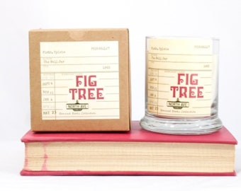 Fig Tree / Inspired by The Bell Jar / Book Themed Candle / Literary Candle / Banned Books Collection / Sylvia Plath / Book Gift