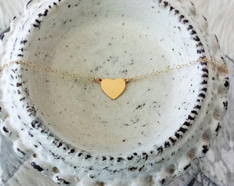 The Corey Necklace // Tiny Heart Necklace //  Heart Jewelry  // Girl Heart Necklace