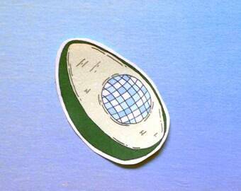 Avocado disco ball stickers