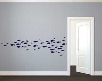 School Of Fish Decal Etsy - Custom vinyl decals etsy
