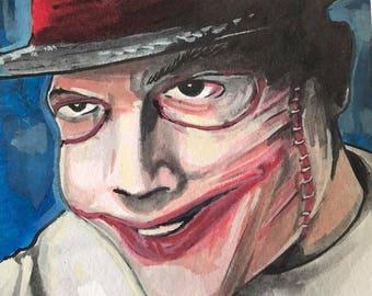 Gotham's Jerome Face Off 8x6 inch Original