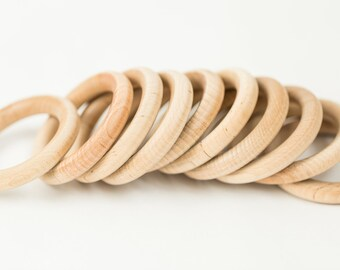 12 Wood Rings| 3 inch Round Rings | Wooden Rings for DIY| Wood Baby Teething Rings| Ring Toss| Box 27