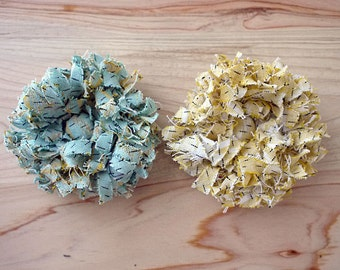 Set of 2 corsages, Flower corsages, pins, brooches, Japanese Cotton