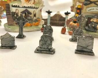 Halloween Village Graveyard Set