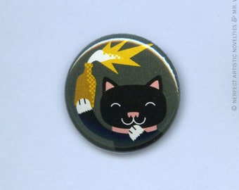 "Kitty Cocktail 1"" Pin-Back Button"
