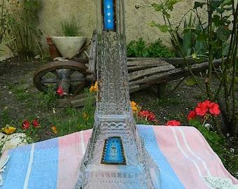 Bottle shape Eiffel Tower Paris Fine Cognac DERIBAUCOURT