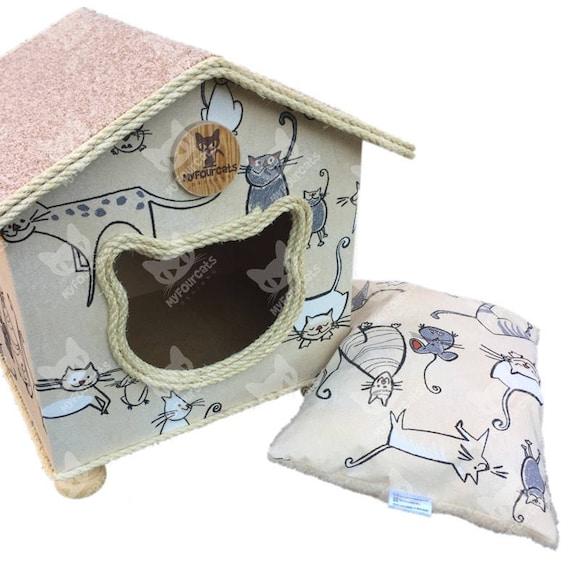CatCottage Cat House Pet House Cat Bed Pet Furniture CatCave Cat Castle