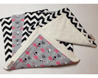 Organic cloth wipes, baby washcloths, organic bamboo, flamingo washcloth, flannel baby wipe, organic baby wipe, mustache baby