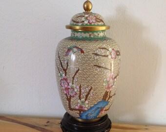 Cloisonné Urn, Creamation Urn, Ginger Jar