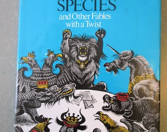 Vintage Book, Endangered Species, Fritz Eichenberg, Illustrated Book, Woodblock Illustrations, Retold Fables Adult Book, 1979 Hardcover Book