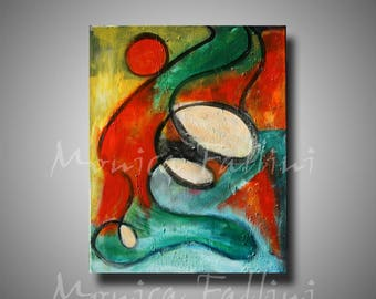ABSTRACT PAINTING on canvas by artist Fallini