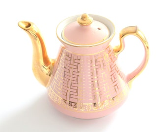 TEAPOT, Vintage by Hall, Dusty Rose, Teapot, Gifts for Her, Tea Party, Made in U.S.A., Little Princess Birthday Party
