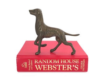 Vintage Brass Dog Sculpture - Brass Dog Figurine - Mid Century Dog Decor - Mid Century Brass Dog - Brass Dog Paperweight - Gold Dog Figurine
