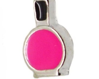 Pink Nail Polish Floating Locket Charm Living Memory Lockets Jewelry Making Supplies - 61Q