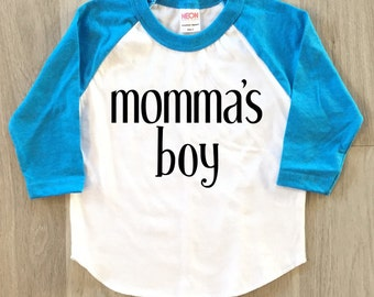 Momma's boy - Mother's Day - baby boy clothes - toddler shirt