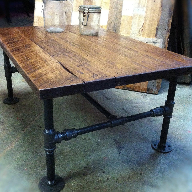 table basse de tuyau en fonte. Black Bedroom Furniture Sets. Home Design Ideas