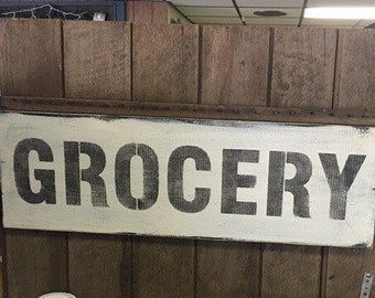 Grocery Wall Art Wood Sign Handmade Made To Order Fixer Upper Style Rustic Sign Modern Farmhouse Primitive Sign Housewarming Gift