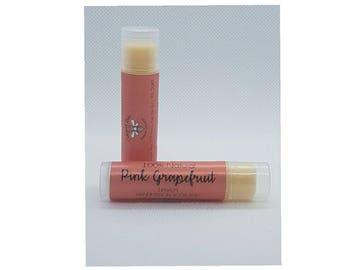Lip balm -Natural - Beeswax - Pink Grapefruit - chapstick - lipbalm - lip treatment - lip salve - made in scotland - lip care-natural beauty