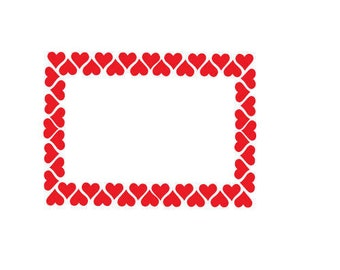 heart frame valentines day , svg, dxf, png
