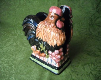 Vintage Ceramic Chicken Napkin Mail Holder Tracy Porter Stonehouse Farms Collection