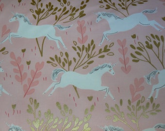 Unicorn Forest in Blossom Cotton Fabric by Michael Miller - 1 Yard
