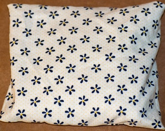 Navy Flower Yellow Polka Dot Hot Cold Pack 6 x 6 iches