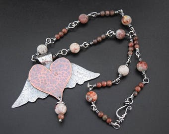 Heart with Wings Necklace