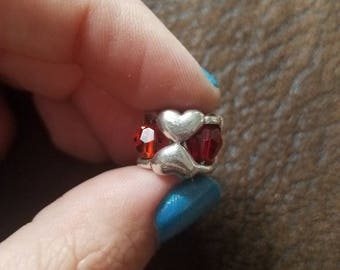 Authentic Trollbeads Valentine Bead Sterling Silver