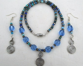 Charybdis Necklace and Earring Set