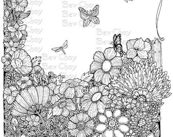 Adult Coloring Page - Heiderbou's Garden