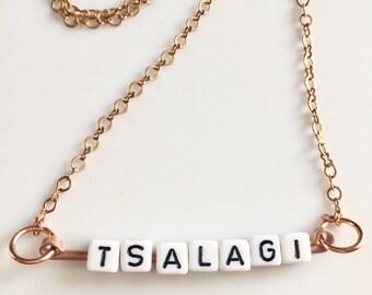 Tsalagi Tile Necklace Tsalagi Cherokee Made