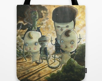 We Come For Your Lunch Money Tote Bag